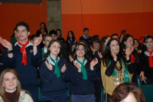 Students clapping after the launch of the film (Photo: Alan Channer)